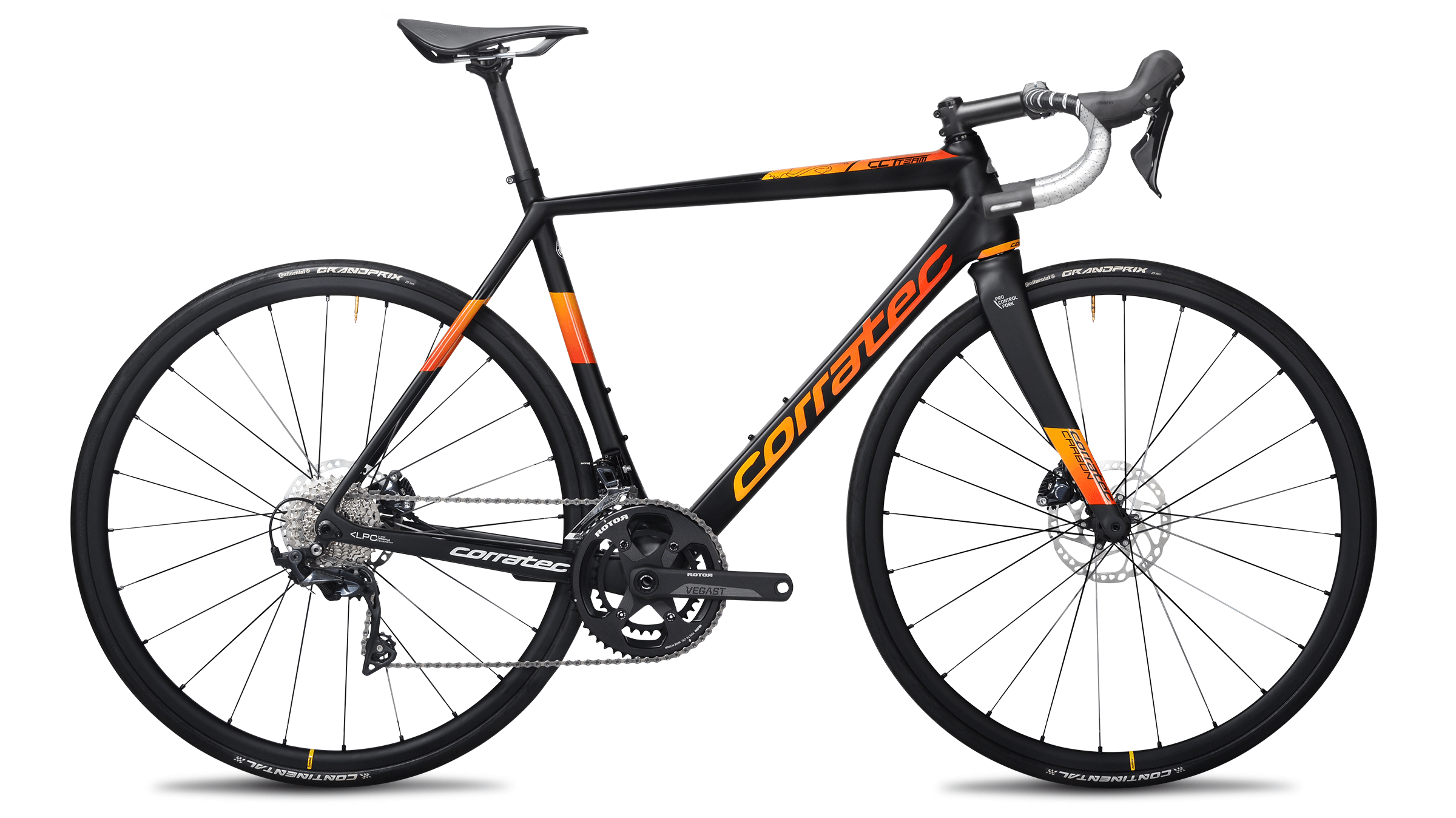 CCT Team Pro Disc matt schwarz orange rot 3199